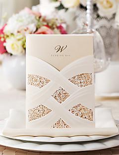 exquise zijde ontwerp huwelijksuitnodiging-set van 50/20 (meer kleuren)
