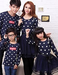 rodiny módní a joker rodiče a děti vlna bod gáza šaty a tričko