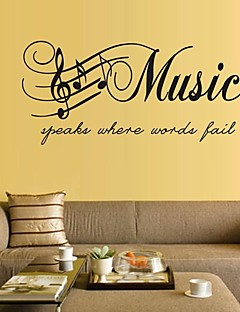 wall stickers Vægoverføringsbilleder, musik pvc wall stickers