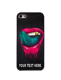 Personalized Case The Lip and the Tongue Design Metal Case for iPhone 5/5S