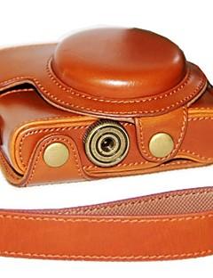 dengpin® caméra étui en cuir Housse de peau d'huile avec bandoulière pour Sony DCS-RX100 ii m2 m3 RX100 RX100 iii