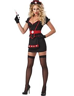 Cosplay Kostýmy Uniformy Festival/Svátek Halloweenské kostýmy Patchwork Šaty / Doplňky do vlasů Halloween Dámské Polyester