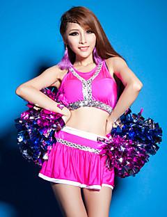Fantasias para Cheerleader Roupa Mulheres Actuação Elastano