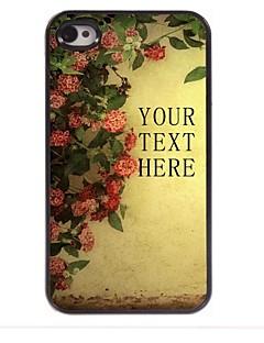 flor presente caso design de metal personalizado para iPhone 4 / 4S