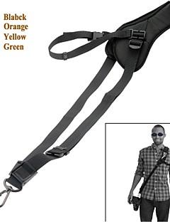 nakke skulder kamera strop enkelt skulder slynge sort bælte rem til SLR DSLR-sort / orange / gul / grøn
