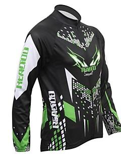 REALTOO® Cycling Jacket Men's Long Sleeve Bike Breathable / Thermal / Warm / Fleece Lining Jersey / Tops Spandex / Polyester / Fleece