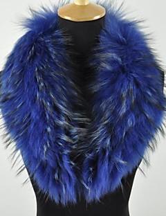 moda abrigo de la bufanda de cuello de la mujer real, genuina piel de mapache