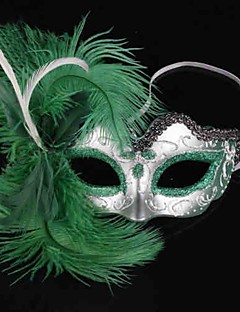Mask Skeleton/Skull Festival/Holiday Halloween Costumes Green Solid Mask Halloween Female PVC