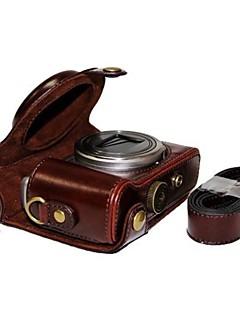 cuir dengpin® caméra étui de protection Housse de bandoulière pour Sony DSC-HX50 hx50v hx60 HX30 HX10 LCJ-hn