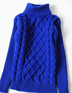 Girl's Solid Sweater & Cardigan,Knitwear Winter / Spring / Fall Black / Blue / Pink / Red / White / Yellow