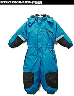 boy's bule nylon ski suits