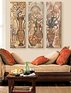 Stretched Canvas Art Classical Bottle Of Flower Adornment Picture  Set of 3