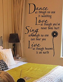 Wall Stickers Wall Decals, Sunflower PVC Wall Stickers