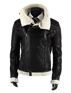 Wshgyy Men's Casual Zipper Leather Jacket