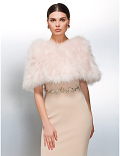 Fashion Ostrich Fur aften / Casual sjal