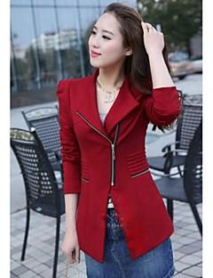 manica lunga giacca sportiva sottile di modo delle donne