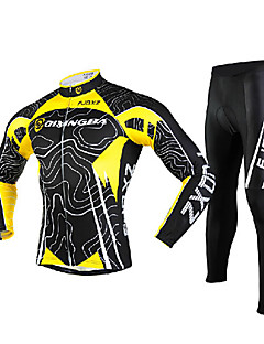 FJQXZ® Cycling Jersey with Tights Men's Long Sleeve BikeBreathable / Quick Dry / Windproof / Ultraviolet Resistant / Front Zipper /