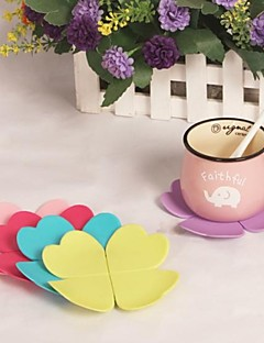 "Leaves Silicone Cup Mat Heat Resistant to High Temperature Prevent Slippery 4""x4""x0.1""(Color Random)"