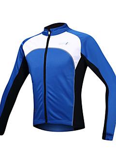 SANTIC® ג'קט לרכיבה לגברים שרוול ארוך אופניים שמור על חום הגוף / עמיד / בטנת פליז / רוכסן קדמי ג'קט / ג'רזי / צמרות ספנדקס / גיזות טלאים
