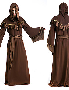 Cosplay Costumes / Party Costume Wizard/Witch Festival/Holiday Halloween Costumes Brown Solid Cloak Halloween / Carnival Male Polyester