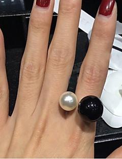 Naisten Tyylikkäät sormukset Avoin pukukorut Birthstones Säädettävä Helmi Hartsi Metalliseos Korut Käyttötarkoitus Häät Party Päivittäin