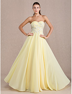 Homecoming Formal Evening/Prom/Military Ball Dress - Daffodil Plus Sizes Sheath/Column Sweetheart Floor-length Chiffon