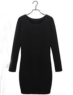Rundhals abendländischen Stil locker Kleid Coco Zhang Frauen