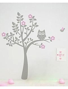 jiubai® tegneserie træ og ugle wallsticker wallstickers, Nusery dekoration