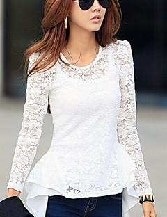 여성의 인어 레이스 바느질 긴 소매 셔츠 (더 많은 색상)