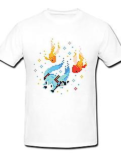 VOCALOID Hatsune Miku  Summer Festival White Cosplay T-Shirt