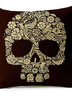 skeleton bomull / linne dekorativa örngott