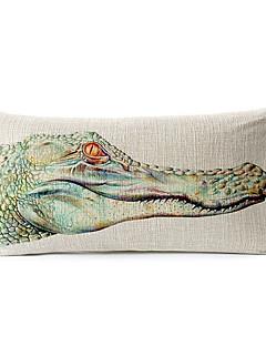 crocodile coton / lin taille décorative taie d'oreiller