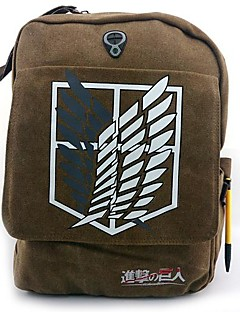 Bag Inspired by Attack on Titan Cosplay Anime Cosplay Accessories Bag / Backpack Brown Canvas / Nylon Male