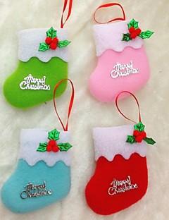 10cm Weihnachten Socken für Weihnachten Parteidekoration 6pcs