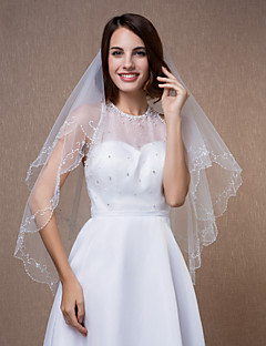vjenčanje velovi jedan tier aplicirano rub