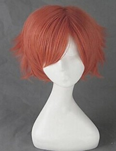 Cosplay Wigs Ouran High School Host Club Cosplay Red Short Anime Cosplay Wigs 35 CM Heat Resistant Fiber Male