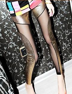Women Cross - spliced Legging , PU Thin