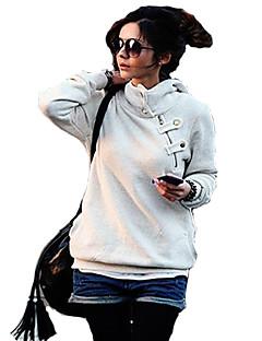 Women's Plus Size White/Black Causal Hoodies,Long Sleeve