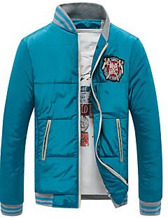 Dibai mannen mode vrije tijd voorzien stand kraag jas