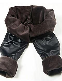 Women PU Fleece Lined Legging,Velvet Patent Leather Thick