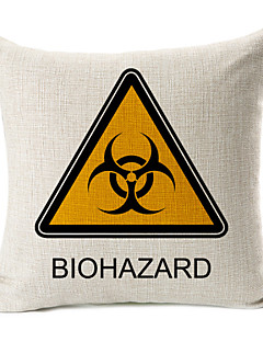 Biohazard coton / lin taie d'oreiller décoratif