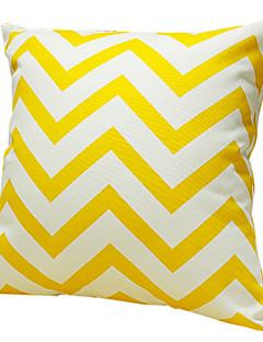 Jaune vague 100% coton taie d'oreiller décoratif