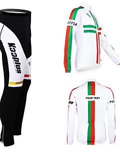KOOPLUS® Cycling Jersey with Bib Tights Women's / Men's / Unisex Long Sleeve BikeBreathable / Thermal / Warm / Fleece Lining / Waterproof