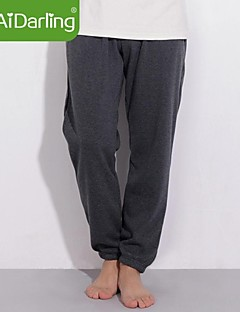 Men's Solid Casual / Sport Sweatpants,Cotton / Polyester / Spandex Black / Blue / Red / Gray