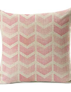 ljusrosa geometriskt mönster bomull / linne dekorativa örngott