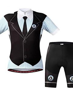 WEST BIKING® Camisa com Shorts para Ciclismo Homens Manga Curta Moto Respirável / Tiras Refletoras / Tapete 3DCalções Bibes /