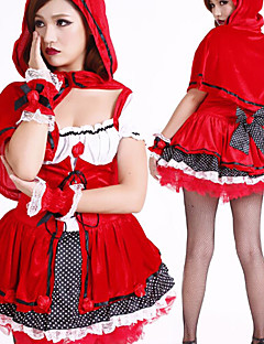 Cute Little Red Riding Hood Polyester Pirate Costume (2 Pieces)