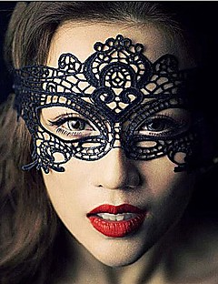 Sexy Women Black Lace Masquerade Halloween Mask