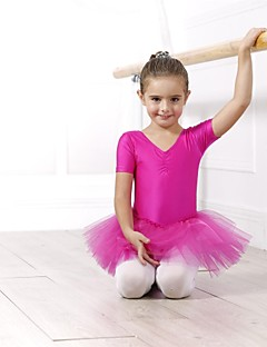 Kids' Dancewear Tops / Dresses&Skirts / Tutus / Dresses Women's / Children's Spandex / Tulle Ballet / Performance Short Sleeve