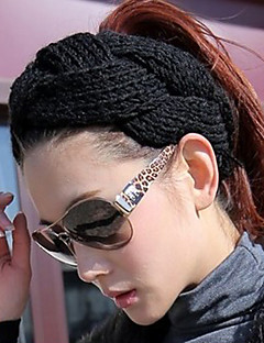 Women's Handmake Twisted Knitting Head Band Tie Cap